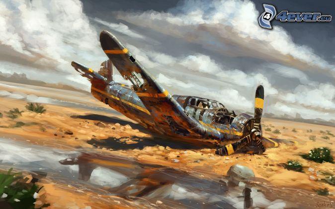 avión, accidente