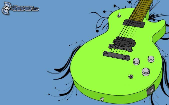 caricatura guitarra, Guitarra Eléctrica
