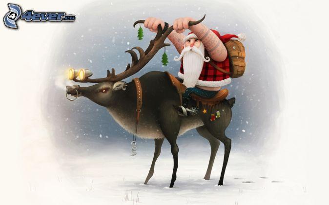Papá Noel, reno