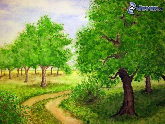 Árboles de dibujos animados