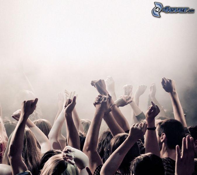 concierto, Fans, manos