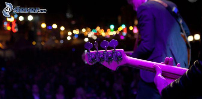 concierto, Guitarristas, tocar la guitarra, luces