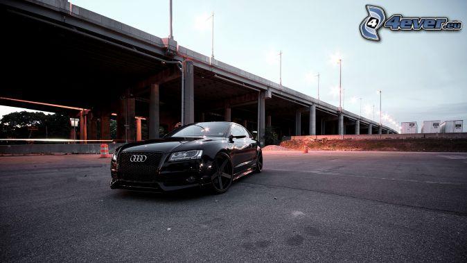 Audi S6, puente, alumbrado público