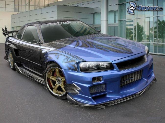 Nissan Skyline GT-R R35, tuning, coche