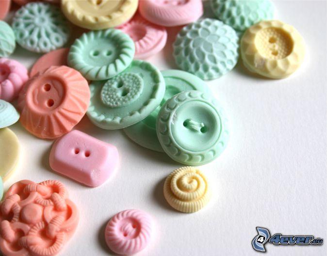 caramelos, Botones