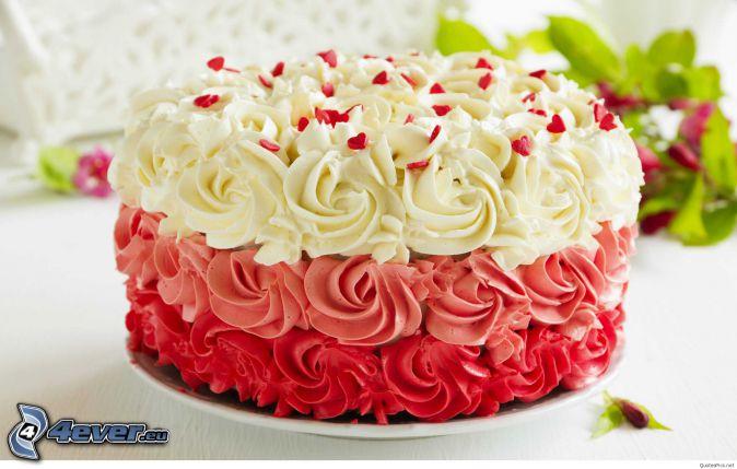 pastel, corazones