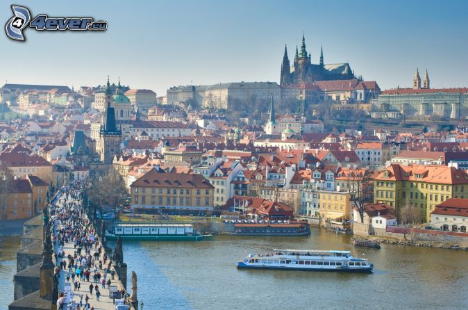 Praga, Castillo de Praga, Puente Carlos, río Vltava