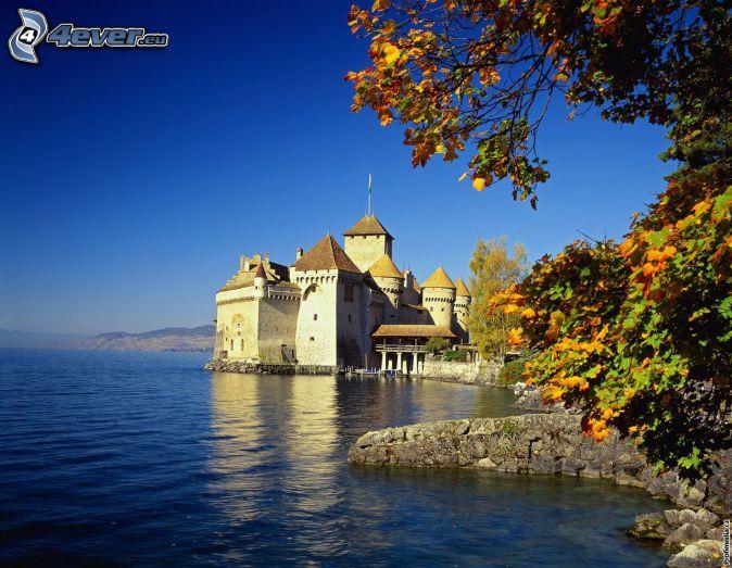 Castillo de Chillon, río