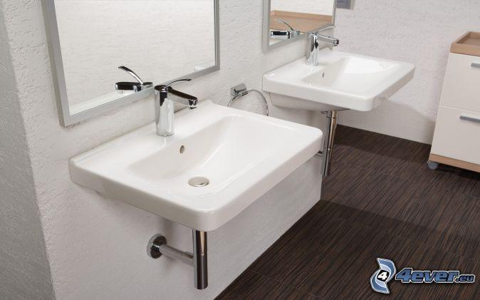 Lavabos para cuartos de ba o - Espejos para lavabos ...