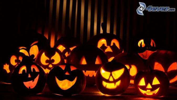 Calabazas de Halloween, oscuridad