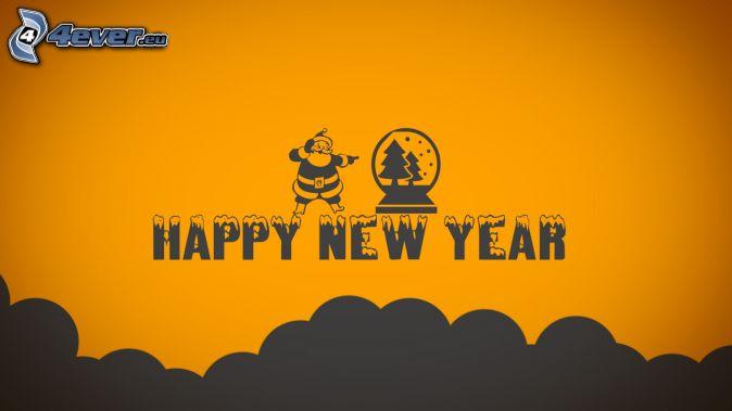 feliz año nuevo, happy new year, Santa Claus, árbol de Navidad