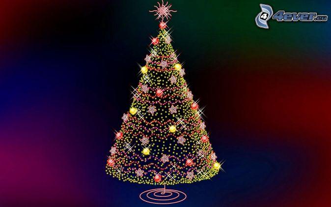 Rbol de navidad - Luces arbol de navidad ...