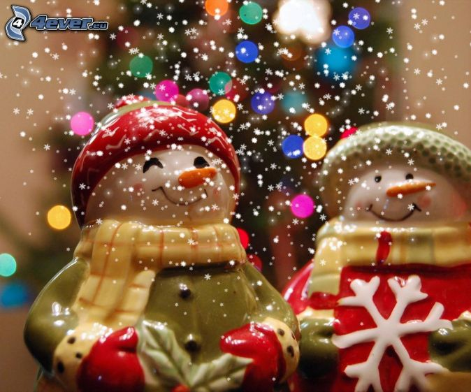 Mu ecos de nieve - Arbol navidad nieve ...