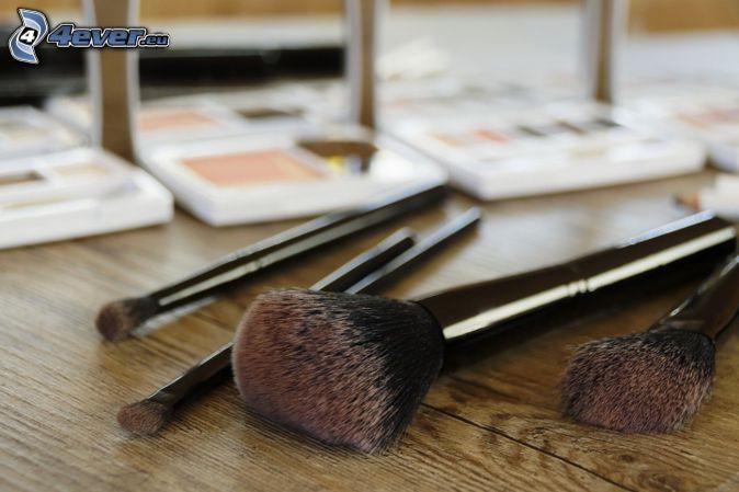 pinceles, make-up