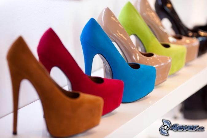 zapatos de gala en plataforma, tienda
