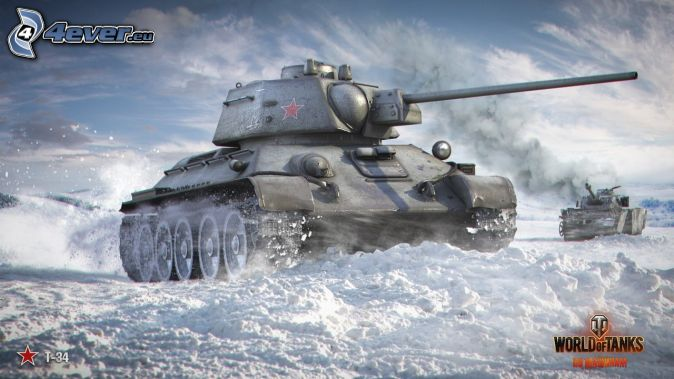 World of Tanks, T-34, tanques, nieve