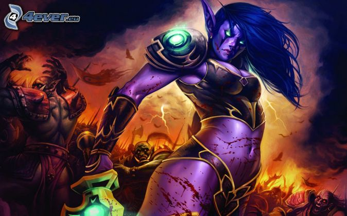 World of Warcraft, mujer elfo