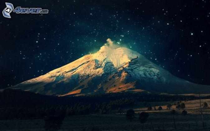 Montaña Nevada Hd: Noche