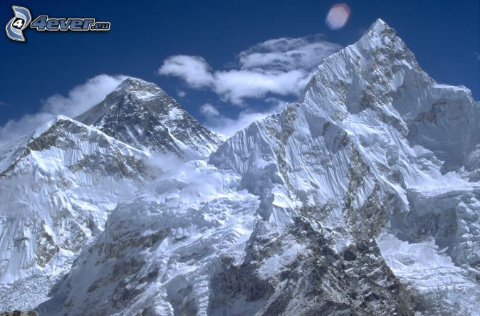 Mount Nuptse, montañas nevadas, Nepal