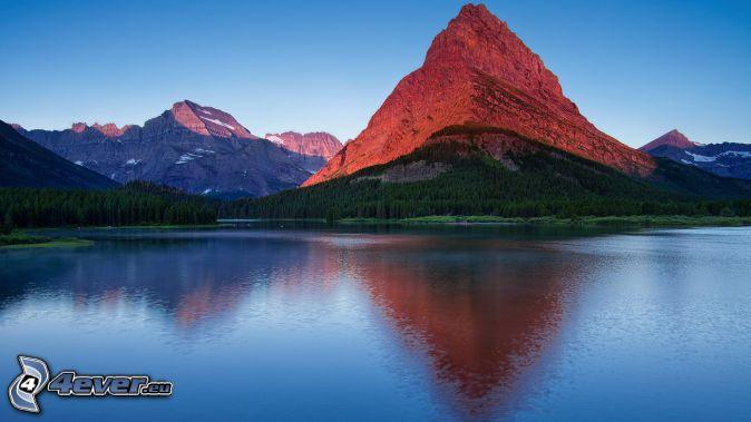 Mount Wilber, montaña rocosa, lago