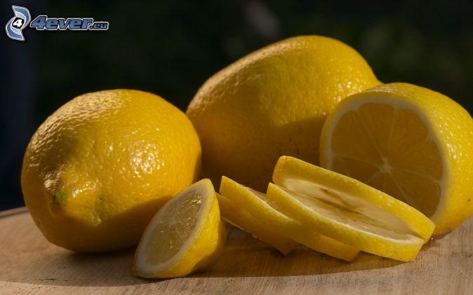 limones, rodajas de limón