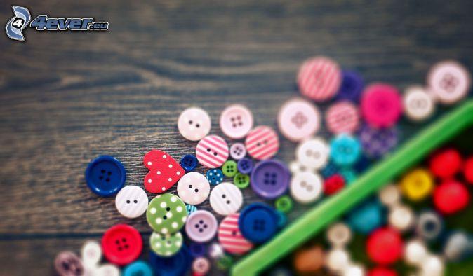 Botones, lápiz