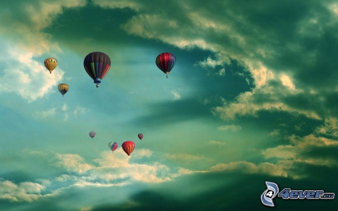 Картинки воздушные шары в небе картинки