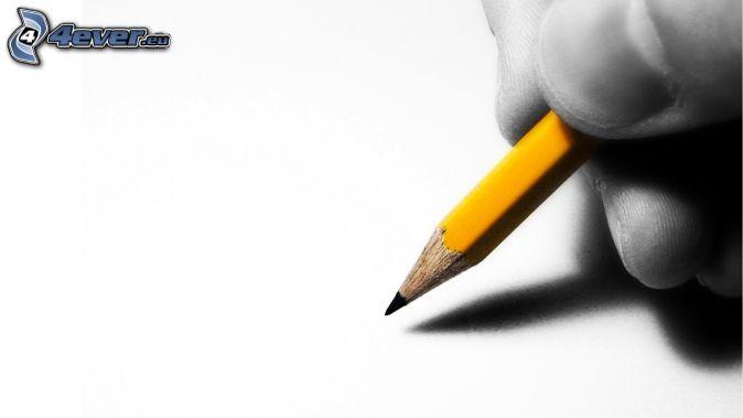 mano, lápiz