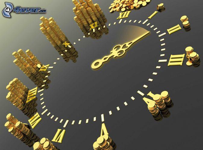 tiempo, moneda