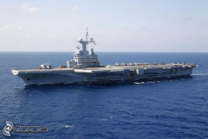 R91 Charles de Gaulle, portaaviones, Alta Mar