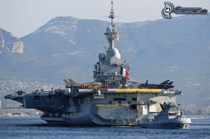 R91 Charles de Gaulle, portaaviones, sierra