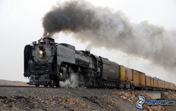 tren de vapor, Union Pacific, tren de carga