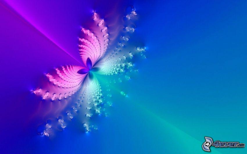 abstracción, mariposa