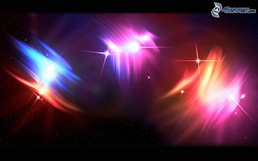 abstracto, líneas de luz