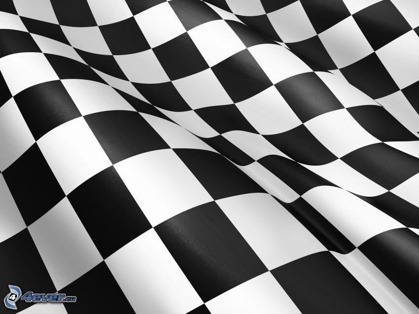 blanco y negro, cuadrados, tablero de ajedrez
