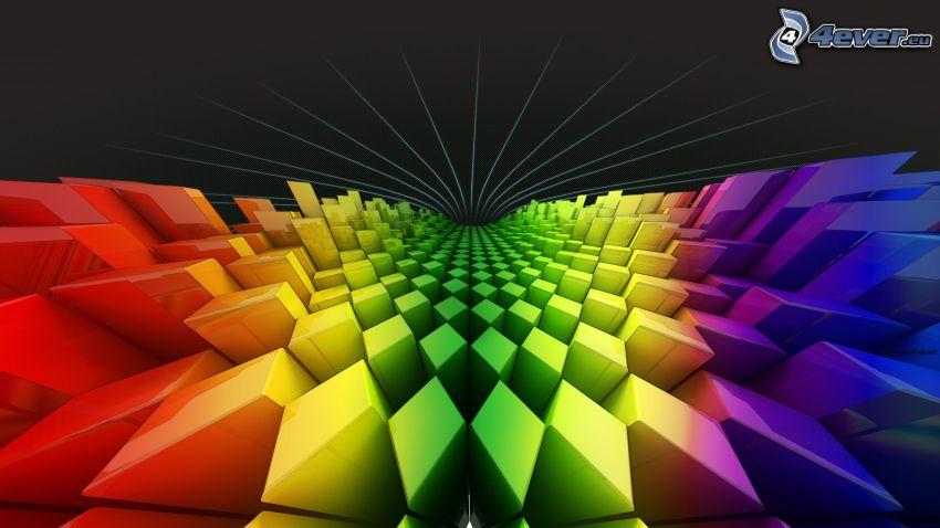 bloques, formas de colores