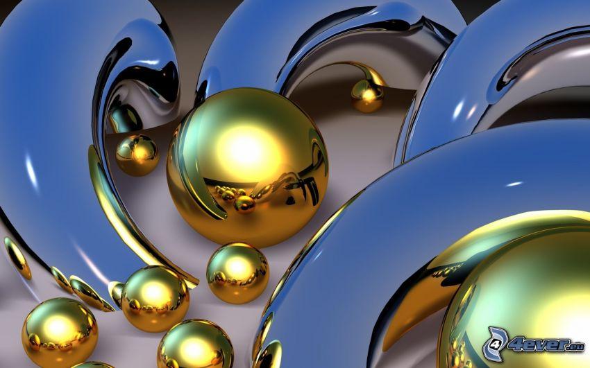 bolas de oro, formas
