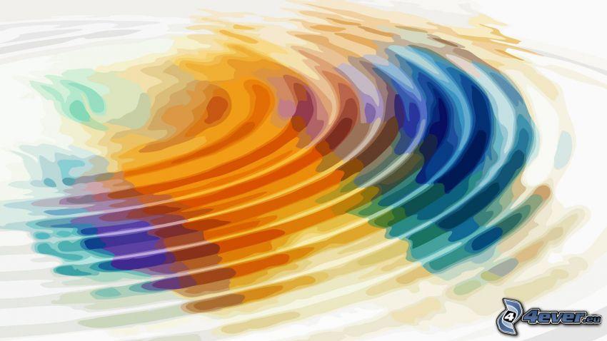 caída de una gota, colores