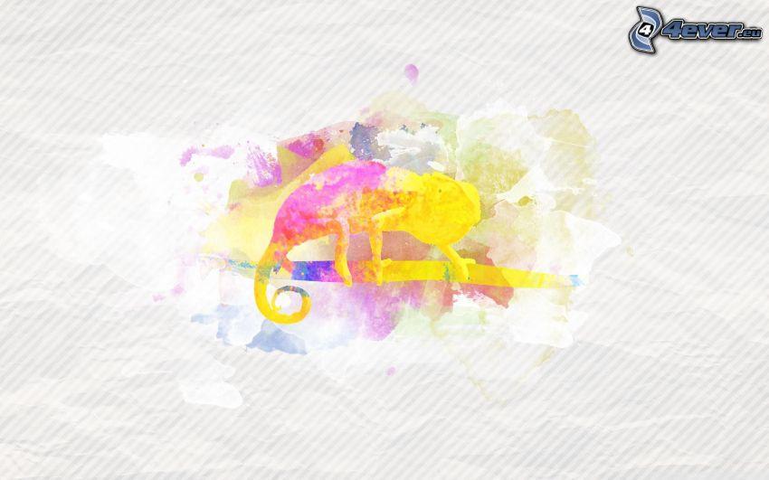 camaleón, colores