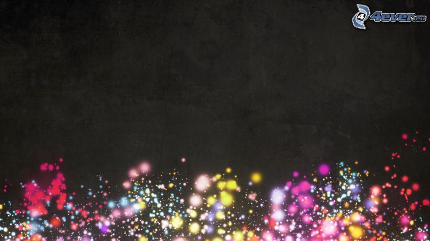 circuitos de colores, fondo negro