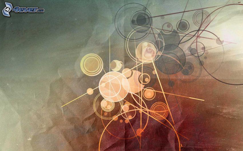 círculos, líneas
