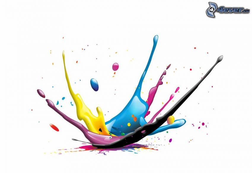 colores, splash