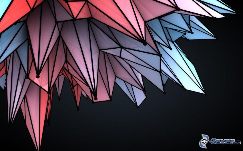 cristal, dibujo de pantalla abstracto