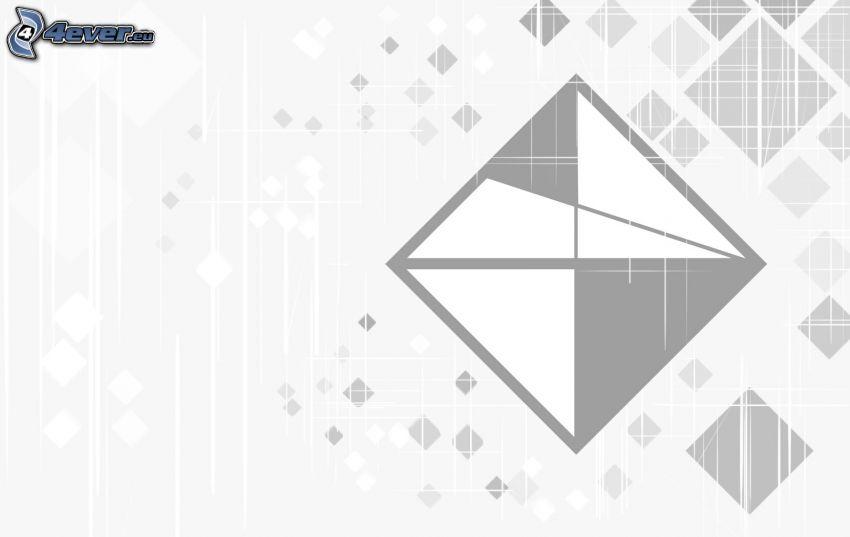 cuadrados, triángulo