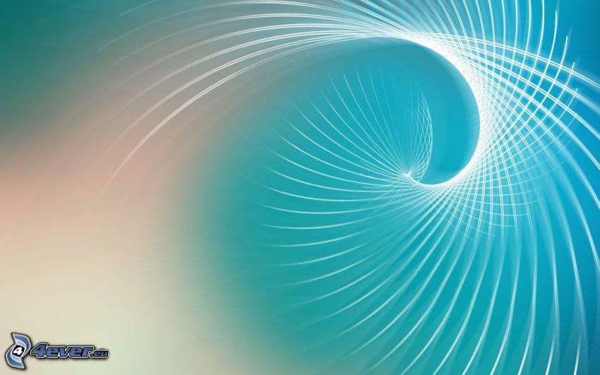 dibujo de pantalla abstracto, espiral