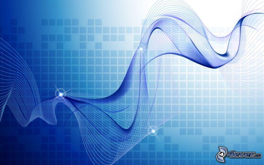 dibujo de pantalla abstracto, fondo azul, líneas azules