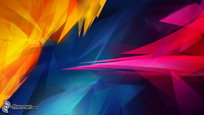 dibujo de pantalla abstracto, formas de colores