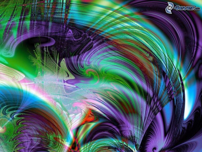 dibujo de pantalla abstracto, líneas de color