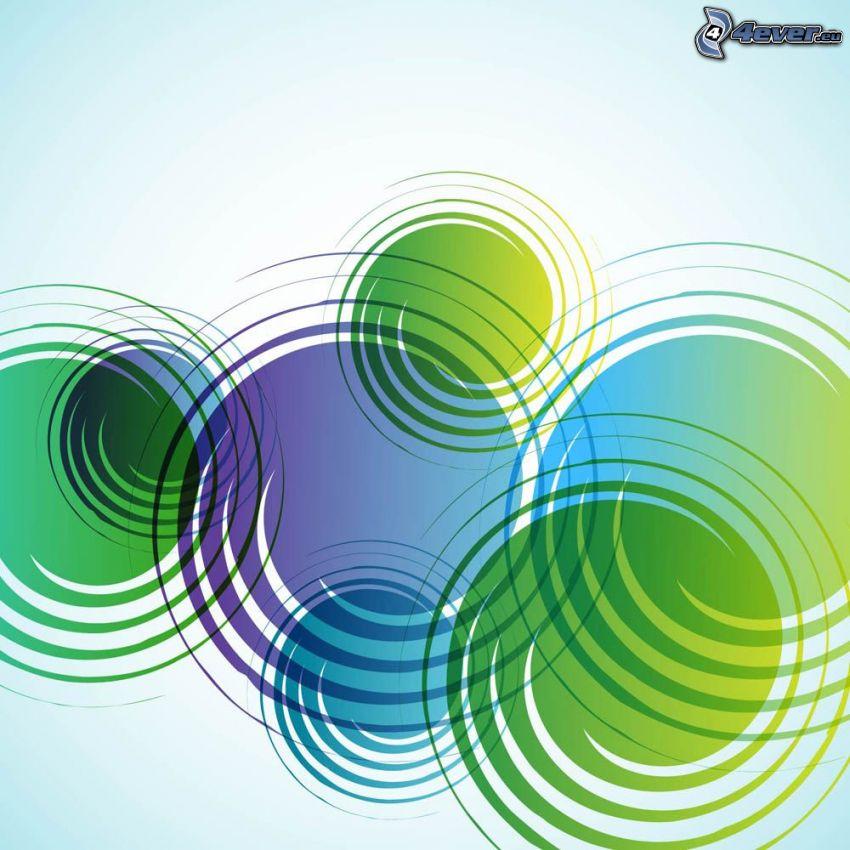 espiral, círculos