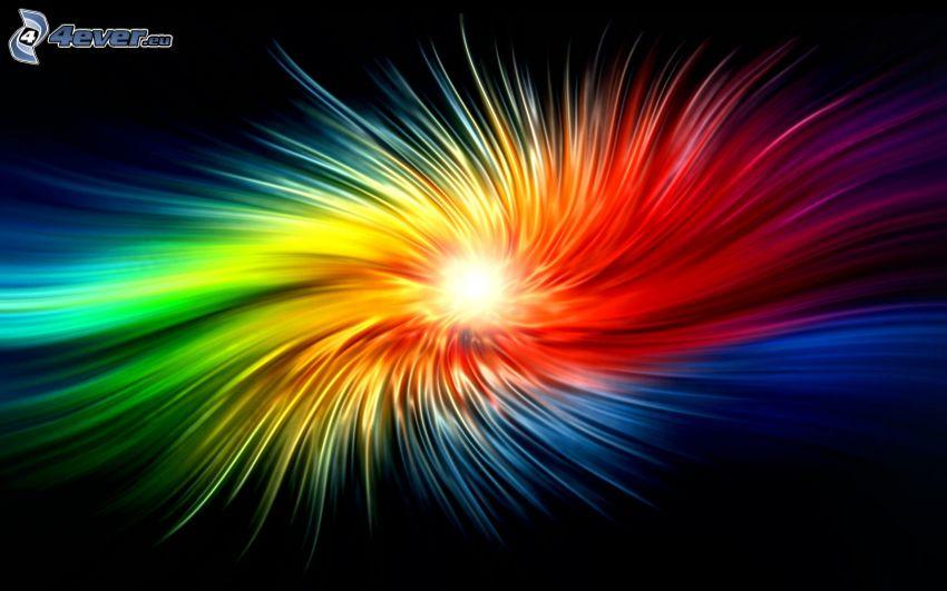 explosión arcoris, colores